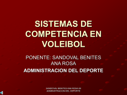SISTEMAS DE COMPETENCIA EN VOLEIBOL