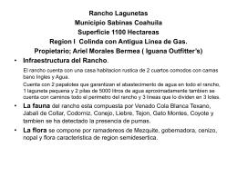 Rancho LAS LAGUNETAS