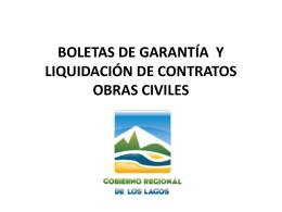 garantías - Gobierno Regional de Los Lagos