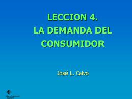 la demanda del consumidor.