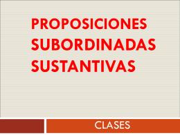 proposiciones subordinadas sustantivas-CLASES - Cancion