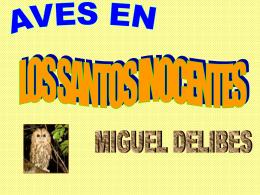 Aves en Los Santos Inocentes.
