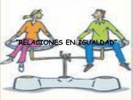 relaciones en igualdad