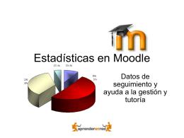 Estadísticas en Moodle