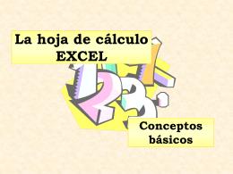 La hoja de cálculo EXCEL