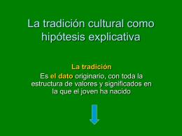 La tradición cultural como hipótesis explicativa