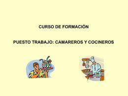 COCINEROS CAMAREROS