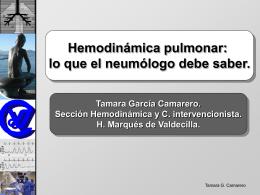 Hemodinamica pulmonar Dra Ga Camarero