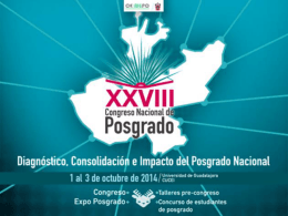 XXVIII CONGRESO NACIONAL DE POSGRADO UNIVERSIDAD DE