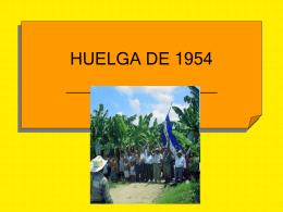 HUELGA DE 1954 - Historia