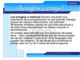 Arreglos ( arrays )