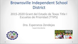 Modelo de Transformación - Brownsville Independent School District