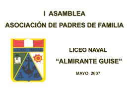 """Presentación de PowerPoint - Liceo Naval """"Almirante Guise"""""""