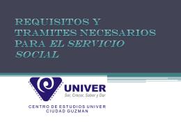 requisitos y tramites necesarios para servicio social