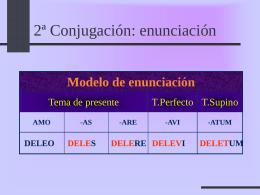 2ª Conjugación - Colegio San José