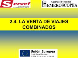 2.4. LA VENTA DE VIAJES COMBINADOS