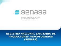 Registro Nacional Sanitario de Productores Agropecuarios