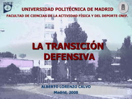 Transición Defensiva - OCW UPM - Universidad Politécnica de Madrid