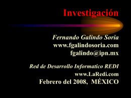 Investigación - Fernando Galindo Soria