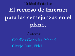 Internet como Recurso –Semejanzas en el Plano