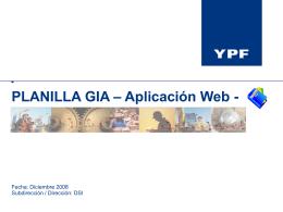 Capacitación Planilla GIA Extranet
