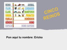 los cinco reinos.Ericka
