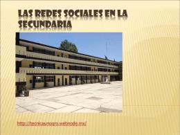 Las Redes Sociales En La Secundaria.