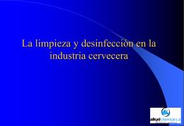 La limpieza y desinfección en la industria cervecera
