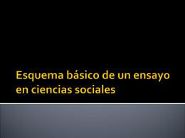 Esquema básico de un ensayo en ciencias sociales