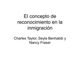 El concepto de reconocimiento en la inmigración