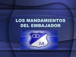 LOS MANDAMIENTOS DEL EMBAJADOR