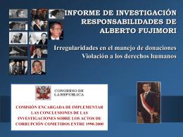 Escriba el título aquí - Congreso de la República del Perú