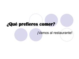 ¿Qué prefieres comer?