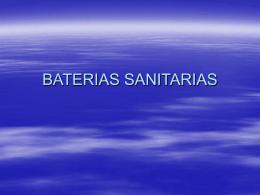 BATERIAS SANITARIAS