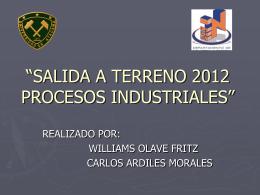 salida a terreno 2012 procesos industriales
