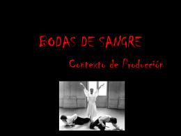 Contexto de produccion Bodas de Sangre