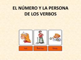 Número y persona en el verbo