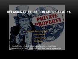 Influencia Estadounidense en Latinoamérica.