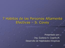 7 Hábitos de las Personas Altamente Efectivas – S. Covey