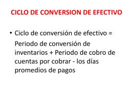 CICLO DE CONVERSION DE EFECTIVO