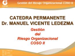 Presentación Gestión del Riesgo Organizacional