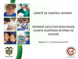 Informe Ejecutivo Auditoria Interna de Calidad 2012