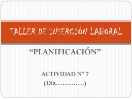 TALLER DE INSERCIÓN LABORAL