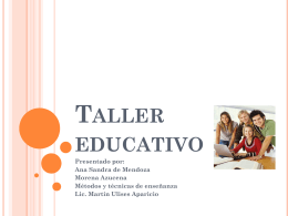 Taller educativo - El plan educativo