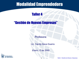 Taller 3: Modulo I - Tecnológico de Monterrey