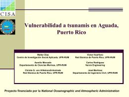 Vulnerabilidad de Tsunami - Red Sísmica de Puerto Rico