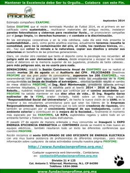 Septiembre_2014 - Fundacion Pro-FIME