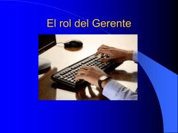 El rol del Gerente en una O.E.