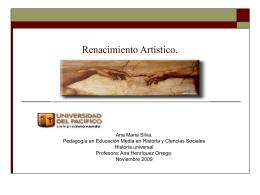 Renacimiento Artístico,en el resumen del trabajo.