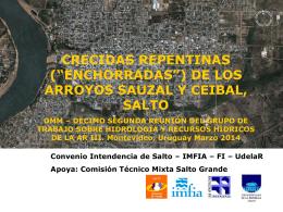 Estudio de los arroyos Sauzal y Ceibal, Salto.
